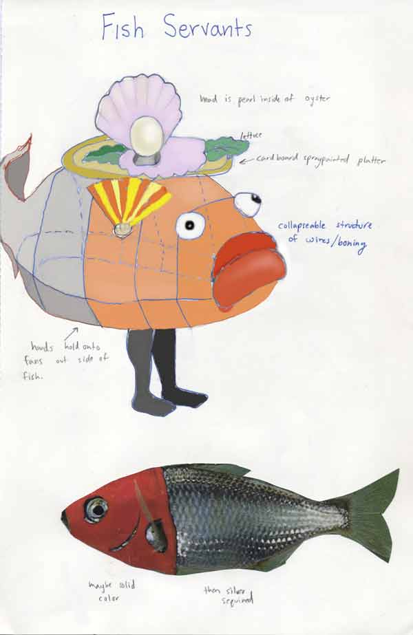 A murmured tale musical adaptation of hans christian for Fish head costume